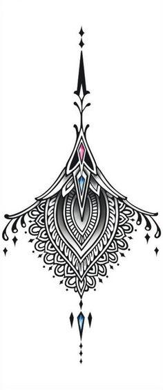 Sexy Back Tattoo Black Tattoo Ornament Large by TattooCrush