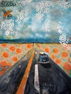 "Saatchi Art Artist Isabelle Joubert; Painting, ""Rendez-vous à Biarritz"" #art"