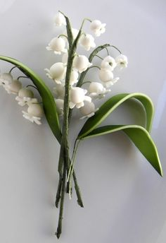 Edible Cake Topper Gum paste Lily of the by ModernLuxeEvents. $17.00, via Etsy.
