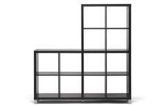 Baxton Studio Sunna Dark Brown Modern Cube Shelving Unit | Interior Express