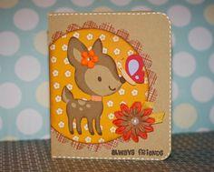 Cricut Deer and Butterfly Friendship Card. Create a Critter Cartridge.