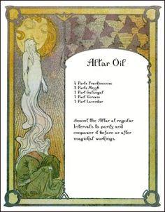 Altars:  #Altar #Oil.