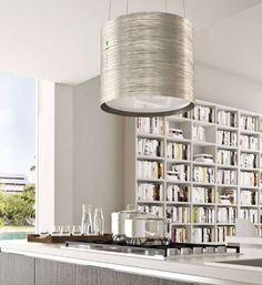 The Twister #hood from Italian designer Falmec's E.ion collection of chic, pendant-style hoods.