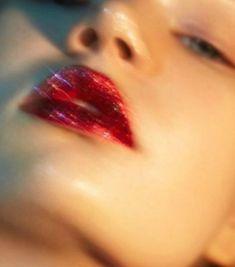 Anett Oun Photographed by Ruo Bing Li Anett Oun Photographed by Ruo Bing Li This image has get. Glitter Make Up, Glitter Force, Red Glitter, Glitter Slime, Glitter Nails, Red Aesthetic, Aesthetic Vintage, Aesthetic Pictures, Aesthetic Grunge