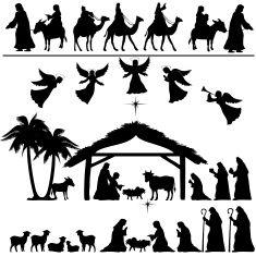 Nativité Silhouette