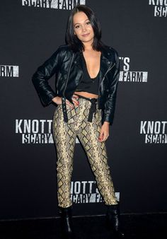 KELLI BERGLUND at Knott's Scary Farm Celebrity Night in Buena Park 09/29/2017