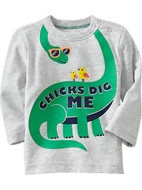 Sueded Jersey Graphic Tees for Baby #ONKidtacular