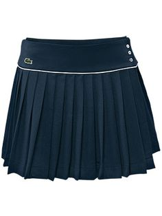 Classic Lacoste navy pleated tennis skirt.