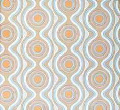 Tapeten Der 70er original 70er jahre tapete mit geometrischem muster der