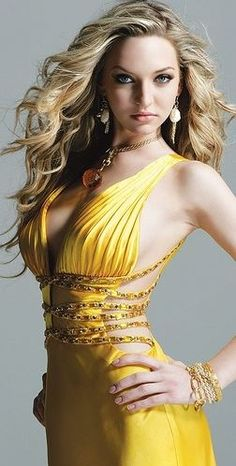 Fancy - Cheap taffeta strapless sexy bodice with a line skirt hot sell evening dress Sexy Dresses, Beautiful Dresses, Prom Dresses, Glamour, Yellow Fashion, Shades Of Yellow, Mellow Yellow, Yellow Dress, A Line Skirts