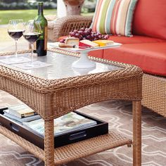 Charlottetown Patio Furniture Martha Stewart Living Charlottetown Natural  All Weather Wicker | Patio Furniture Ideas | Pinterest | Patios, Martha  Stewart ...