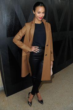 Zoe Saldana - Miu Miu front row at Paris Fashion Week 2013 - perfect outfit! <3