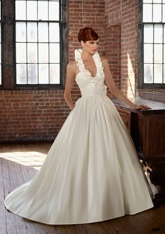 There's something I love about this- ruffles and pockets | Blu by Mori Lee Style 4805