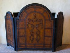 Antiqued Fireplace Screen