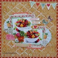 All About Scrapbooks - Kaisercraft Tropical Punch by Linda Eggleton