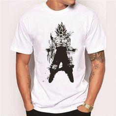 T-shirts Men's Clothing Pop Goku Super Saiyan T Shirt Car Styling T Shirt Cotton Crewneck Xxxl Short Sleeve Custom Dragon Ball Z T Shirt The Hottest Modern And Elegant In Fashion