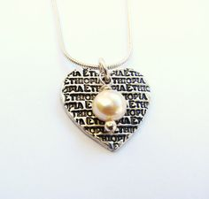 "Africa Ethiopia Necklace-""Ethiopia in my Heart"""