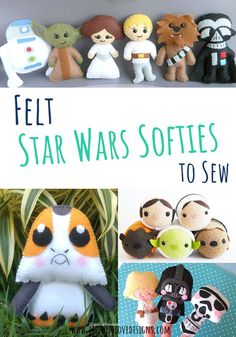 Star Wars sewing patterns and Star Wars crafts are perfect for Star Wars themed parties! And, what better way to celebrate Star Wars day than a few Star Wars themed projects? May the Fourth crafts can be as simple or as complex as you desire - this list has it all! Come find a Star Wars pattern or craft idea to do today! #starwars #felt #stuffedanimalpattern #softies Star Wars Baby, Star Wars Toys, Felt Diy, Handmade Felt, Sewing Projects For Kids, Sewing For Kids, Star Wars Christmas Ornaments, Felt Board Patterns, Craft Tutorials