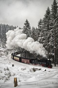 Imagen de winter, train, and snow