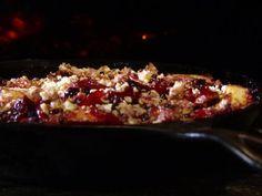 Get Blueberry Peach Cobbler with Vanilla Yogurt Recipe from Food Network