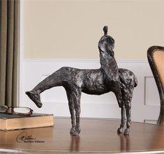 Uttermost Side Saddle Sculpture (19889)