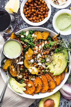 Roasted Chili-Lime Chickpeas | sweet-potato-squash-and-kale-buddha-bowl-9