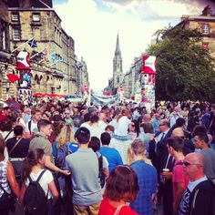 The #royalmile is in full #festivals fever! #edfest #edfests #edinburgh #scotland
