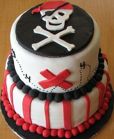 Pirate themed birthday cake.