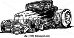 Hot Rod Illustrations | Clip Art - , automobile, car, hot rod, hotrod, . Fotosearch - Search ...