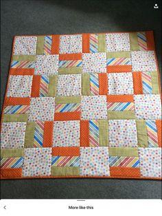 Quilt Baby, Baby Boy Quilt Patterns, Beginner Quilt Patterns, Baby Girl Quilts, Girls Quilts, Quilt Block Patterns, Quilt Tutorials, Quilt Blocks, Afghan Patterns