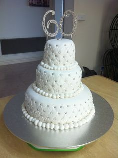 Ideas For 60th Wedding Anniversary Cakes