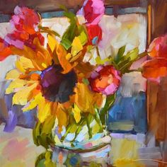 "Daily Paintworks - ""Magical Morning Sunshine"" - Original Fine Art for Sale - © Dreama Tolle Perry Paintings I Love, Beautiful Paintings, Original Paintings, Original Artwork, Abstract Flowers, Watercolor Flowers, Watercolor Art, Art Floral, Oeuvre D'art"