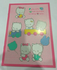 Vintage Sanrio Cherry Chums note made in Japan 1988 by TownOfMemories on Etsy