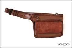 Leather Hip Bags fanny pack belly bag by MONZOON on Etsy, $75.00
