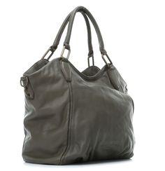 Liebeskind Vintage Paulette Tote Leather french grey 47 cm - vin-paulette-frenchgrey - Designer Bags Shop - wardow.com