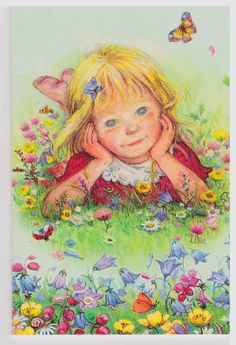 My Lisi Martin cards, children,not for trade Holly Hobbie, Vintage Pictures, Cute Pictures, Cute Illustration, Christmas Art, Vintage Cards, Cute Art, Art For Kids, Drawings
