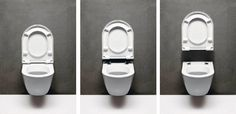 """GSI Ceramica -  Seat Cover Quick Release -  Simply pull the seat & cover up using a modicum of force and you can now properly clean the toilet seat and the WC itself without the usual struggle to achieve good levels of hygiene. Repositioning the seat & cover is as simple; once placed on the hinges, it will snap back into place, again with just a small amount of pressure. The """"Quick Release"""" combined with GSI Ceramica's soft-close lid creates a truly efficient, and easy to clean WC seat and…"""