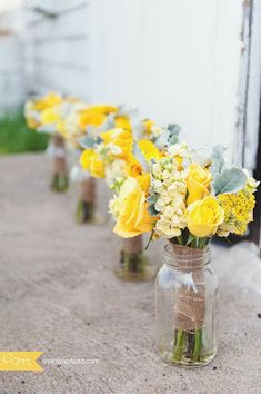 Erin Volante Floral: Yellow and Gray Wedding Flowers love the yellow flowes