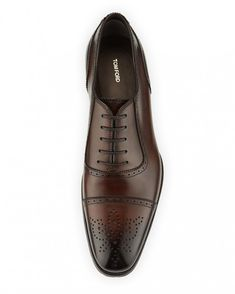 a40808b4ec0 TOM FORD Austin Cap-Toe Oxford Shoe Brown  tomfordmen  tom  ford  men   casual