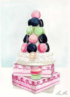 Macaron Tower from Laduree in Pastels with by SpunSugarPaperie, $45.00