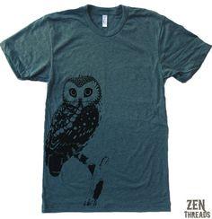 Mens URBAN OWL american apparel t shirt S M L XL 17 door ZenThreads