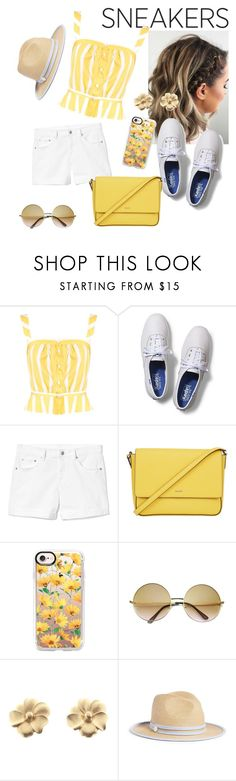 """""""Sunshine and sneakers"""" by serene-everest on Polyvore featuring Thierry Colson, Keds, Gap, DKNY, Casetify, ZeroUV, Christian Dior and Draper James"""