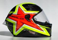 Racing Helmets Garage: Agv PistaGP L.Fittipaldi 2014 by Tato Designs Custom Motorcycle Helmets, Custom Helmets, Racing Helmets, Motorcycle Gear, Airbrush, Beast From The East, Helmet Paint, Custom Paint Jobs, Bikes For Sale