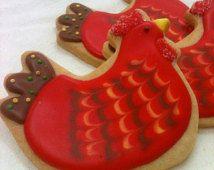 OEUFS frais poulet sucre Cookie Party Favors, 1 douzaine