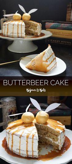 Butterbeer cake from @bijouxandbits #harrypotter #butterbeer