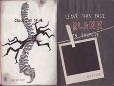 WRECK THIS JOURNAL - Crack the spine by n1ckys