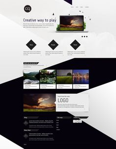 Code and Quest website design by Joanna Kosinska, via Behance