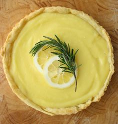 Rustic Lemon and Rosemary Tart (recipe/photos by vmac+cheese for Glitter Guide)