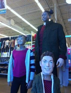 """33 Examples Of """"You Had One Job"""" Now, this is just creepy. How does someone not put the right head on a mannequin?"""