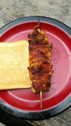 """Curry Huenchen Spieße Komm auf den Geschmack Various Stuff Q&M Shop Gruppe """" Western Food  Lovers Jakarta """" Beides auf Facebook"""